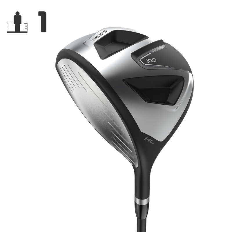 BEGINNER GOLF CLUBS Golf - Driver 100 Left-Handed Size 1 INESIS - Golf Clubs