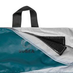 Tas voor snorkelset met zwemvliezen, duikbril en snorkel SNK marineblauw
