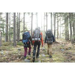 Sac à dos trekking montagne TREK900 50L + 10L homme Gris