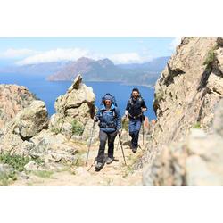 Hoofdband voor trekking Trek 500 merinowol blauw