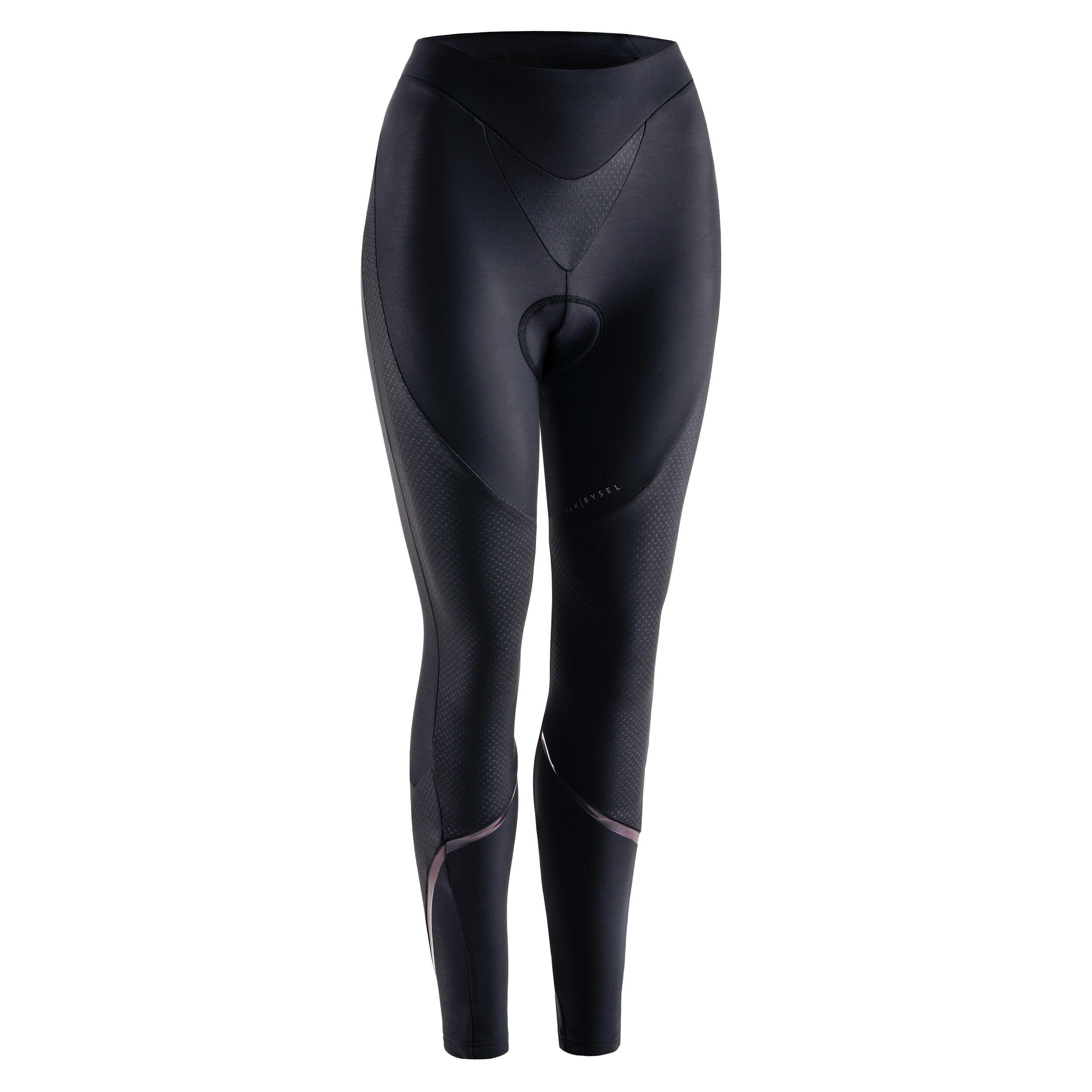Radhose lang kaltes Wetter Damen schwarz | Sportbekleidung > Sporthosen > Fahrradhosen | Van rysel