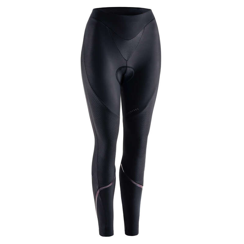 WOMEN COLD WEATHER ROAD APPAREL Clothing - Women's Sport Tights - Black VAN RYSEL - By Sport