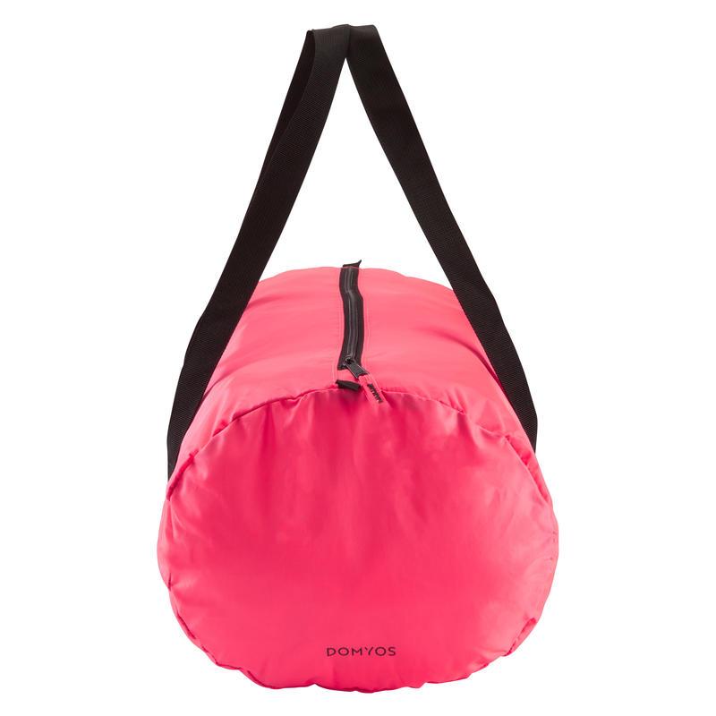 Bolso de deporte plegable petate Cardio Fitness Domyos 30 litros rosa coral