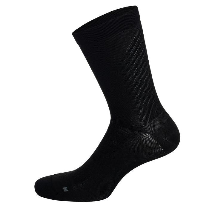 Fahrrad-Socken Rennrad RR 900 schwarz/grau