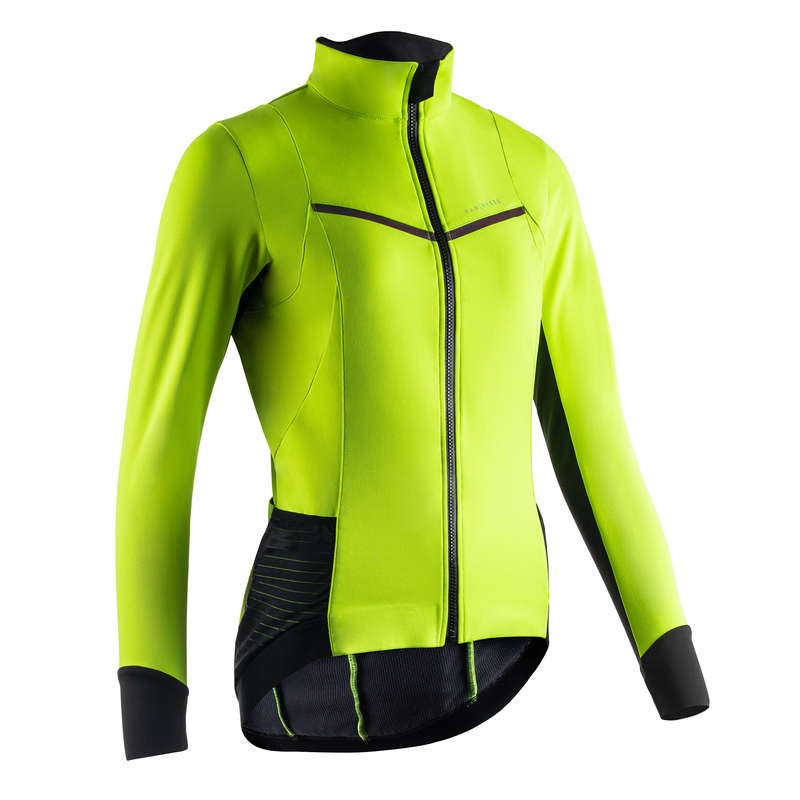 WOMEN COLD WEATHER ROAD APPAREL Clothing - Women's Sportive Jacket Yellow VAN RYSEL - By Sport