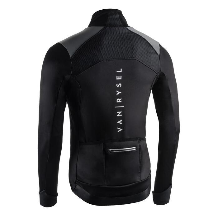 Fahrradjacke Rennrad RR 900 Herren schwarz kaltes Wetter