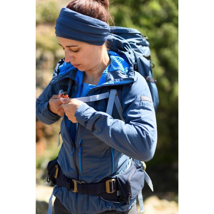 Multifunctionele nekwarmer voor bergtrekking Trek 500 merinowol blauw