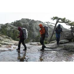 Men's Mountain Trekking Waterproof Jacket -TREK 500 Orange