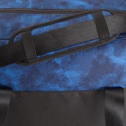 Sporttas fitness 30 liter, zwart/blauw