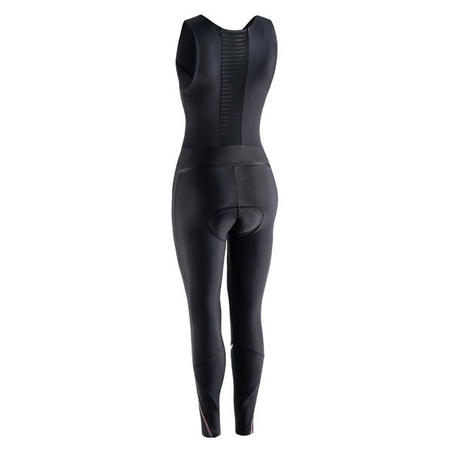 Collant cyclosport bretelles quick-zipp - Femme