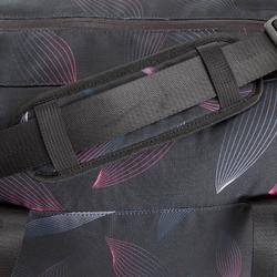 Sporttas fitness 30 liter, zwart/roze