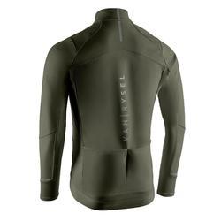 Fahrrad Winterjacke RR 500 für kalte Temperaturen khaki