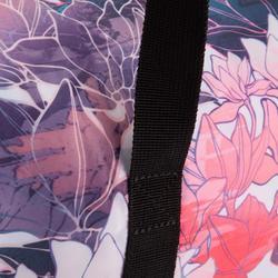 Bolsa de deporte plegable petate Cardio Fitness Domyos 30 litros rosa floral