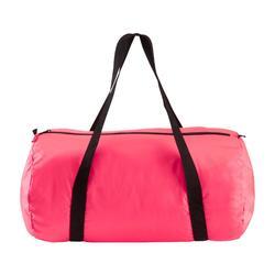 Bolsa de deporte plegable petate Cardio Fitness Domyos 30 litros rosa coral