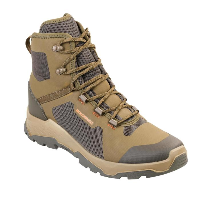Chaussures Chasse Silencieuse Respirante 500 Marron