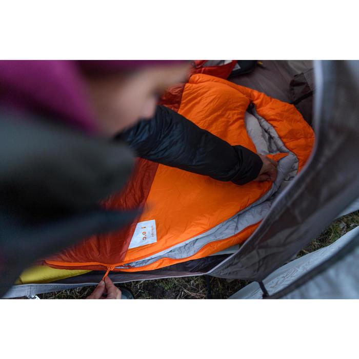 TREK500 0° trekking feather sleeping bag - orange