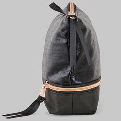 Pochette noire de danse multi-compartiments pour chaussons