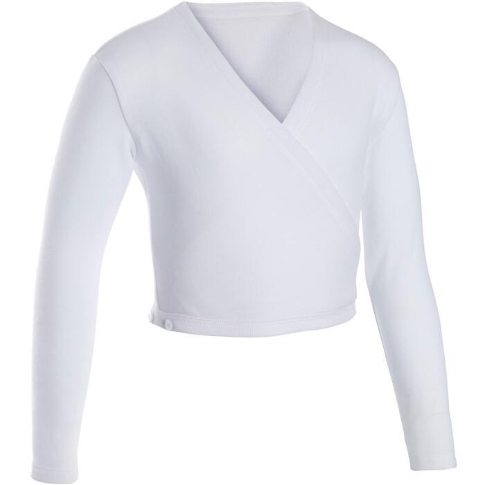 Cache-coeur klassiek ballet meisjes wit