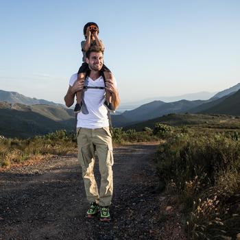Jumelles randonnée enfant grossissement x6 sans réglage orange - 171