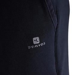 Jogginghose warm Slim Baumwolle atmungsaktiv 500 Gym Kinder schwarz