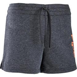 Sporthose kurz Damen grau