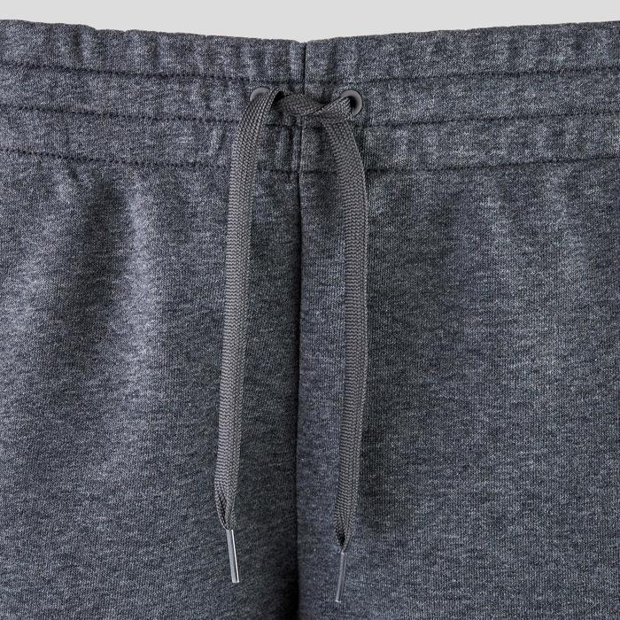 Damesshort voor pilates en lichte gym grijs