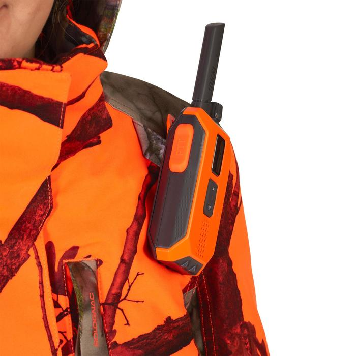 3-in-1 camouflagejas voor de jacht dames 500 warm, waterdicht fluo camouflage