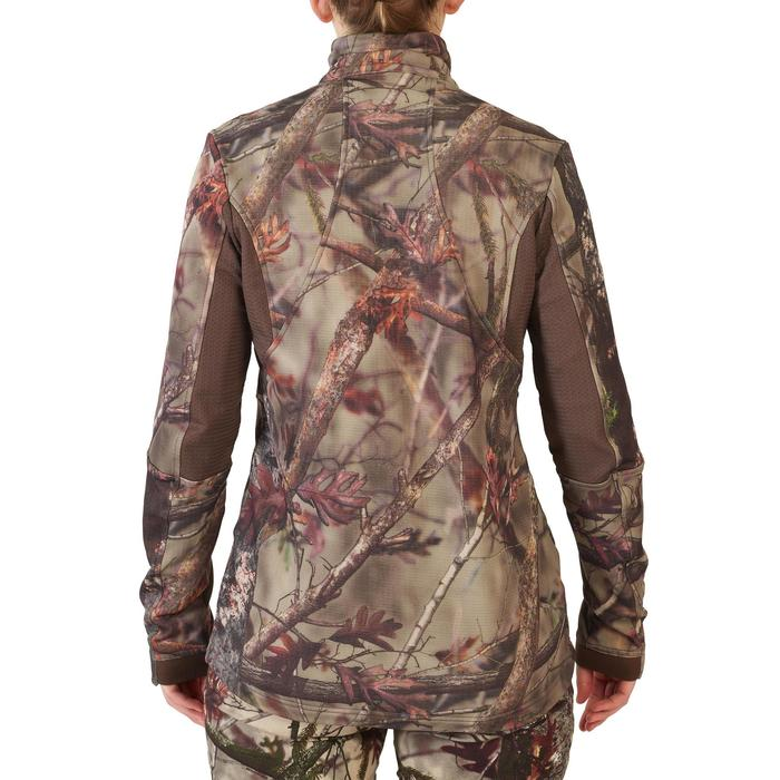VESTE CHASSE FEMME 500 SILENCIEUSE CHAUDE RESPIRANTE CAMOUFLAGE