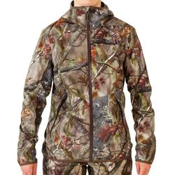 Geluidloze, waterdichte en ademende jagersjas voor dames 500 camouflagemotief