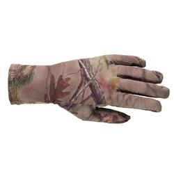 GANTS CHASSE FEMME 500 SILENCIEUX LÉGER RESPIRANT CAMOUFLAGE