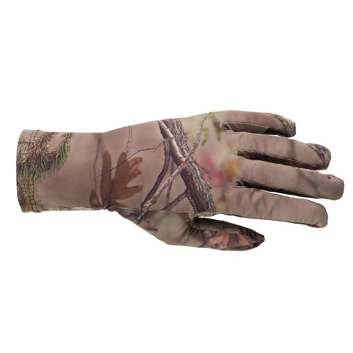 Geluidloze lichte ademende camouflagehandschoenen voor de jacht dames 500