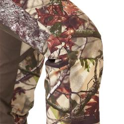 PANTALON CHASSE FEMME 500 SILENCIEUX RESPIRANT CAMOUFLAGE