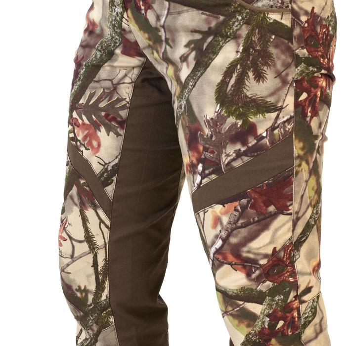 500 Women S Silent Breathable Hunting Trousers Camo Solognac Decathlon