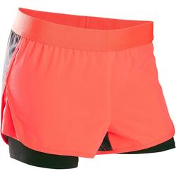 Short respirant W900 fille GYM ENFANT rouge imprimé