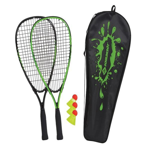 SET SPEED BADMINTON 2 RAQUETTES ET 3 VOLANTS