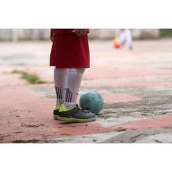 Hallenschuhe Futsal Eskudo 500 Kinder grau