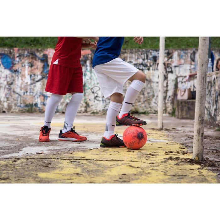 Hallenschuhe Futsal Eskudo 500 Kinder rot