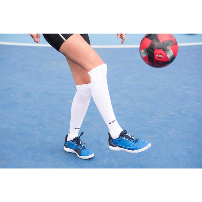 Zaalvoetbalschoenen dames Eskudo 500 blauw/grijs