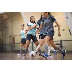 Ballon de Futsal 100 Hybride 63cm blanc