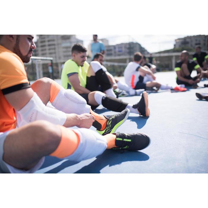 室內五人制足球鞋Eskudo 500-灰黃配色
