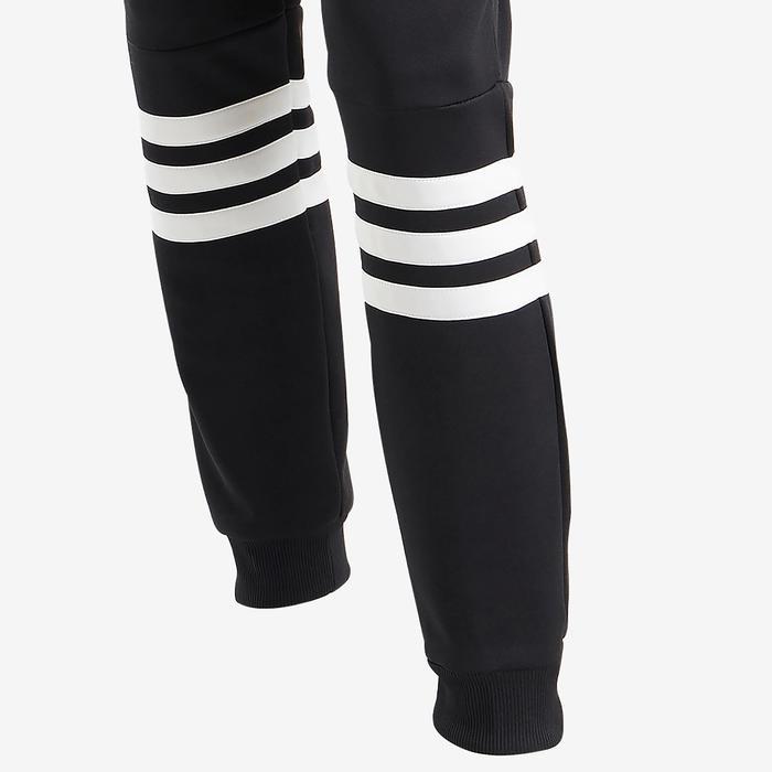 Chándal Capucha Gimnasia Adidas 500 Niña 5-15 Años Negro/Blanco