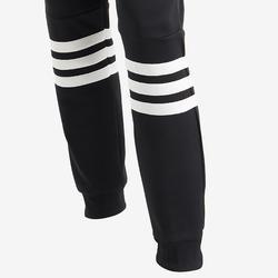 Survêtement fille à capuche noir pour la gym avec logo adidas sur la poitrine