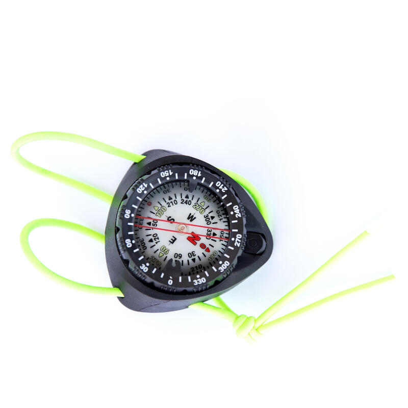 Diving compass with elastic strap