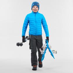 Polaire hybride de randonnée neige SH500 X-WARM bleue - Garçon 8-14 ans