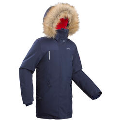 Veste chaude de randonnée neige enfant SH500 u-warm fille 7-15 ans bleue claire.