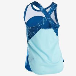 Ademend gymtopje voor meisjes S900 blauw AOP