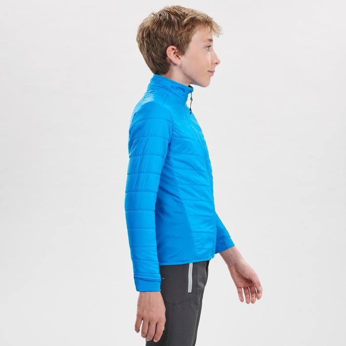 Hybride wandelfleece voor de sneeuw jongens SH500 X-Warm 8-14 jaar blauw