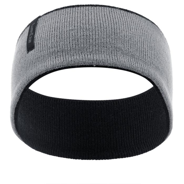 Stirnband wendbar Reverse Kinder schwarz/grau