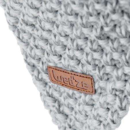 Kids' Timeless Peruvian Ski Hat - Light Grey