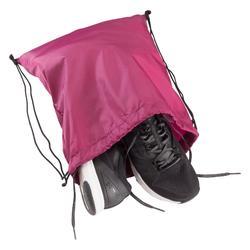 Sac à chaussures fitness pliable bordeaux